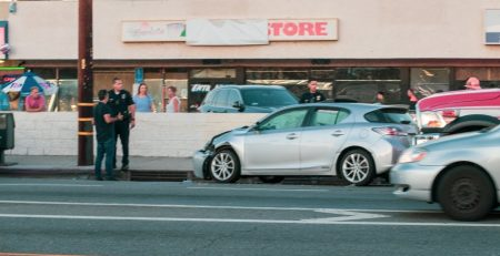Phoenix, AZ - Officers Investigating Injury Wreck on SR 51 at L-202