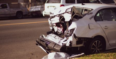 2.19 Phoenix, AZ - Officers Investigating Rear-End Car Crash on L-101 at Mini-Stack